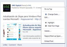 Facebook ya permite la edición de posts en las fan pages