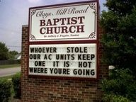Funny church sign!
