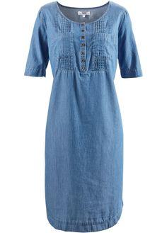 Jeans-Kleid, Halbarm blue bleached - bpc bonprix collection jetzt im Online Shop von bonprix.de ab ? 29,99 bestellen. Leicht fallendes Jeans-Material, mit ...