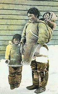 Amautik Inuit baby carrier