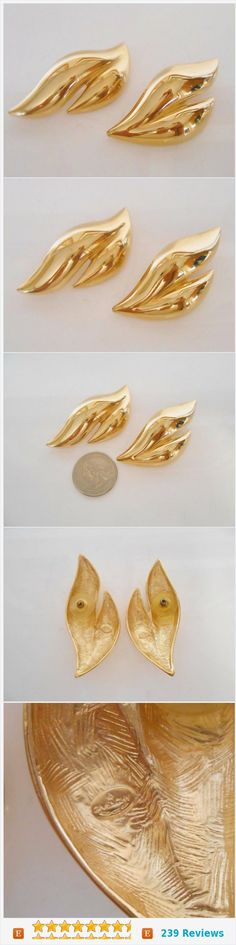 Givenchy Pierced Earrings Vintage Abstract Statement 1980's https://www.etsy.com/listing/384442882/