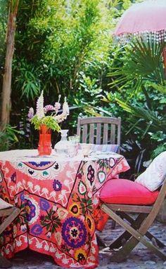 Suzani tablecloth