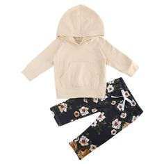 Cute baby girl hoodie outfit from Kadees Kloset. Wide selection of baby girl clothes. Blumenhosen Outfit, Floral Pants Outfit, Outfit Sets, Baby Outfits, Kids Outfits Girls, Toddler Outfits, Kids Girls, Baby Kids, Toddler Girl