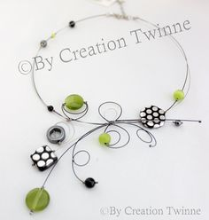 Hey, I found this really awesome Etsy listing at https://www.etsy.com/listing/154117587/lime-green-necklace-unique-handmade