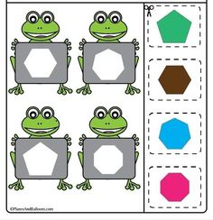 Geometry Worksheets, Art Worksheets, Preschool Worksheets, Art Activities For Toddlers, Learning Activities, Crafts For Kids, Preschool Prep, Preschool Learning, Monkey Crafts