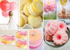 Moodboard in Eiscremefarben für die Hochzeit | Friedatheres