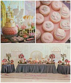 Elegant Princess Birthday Party via Kara's Party Ideas | Party ideas, supplies, decor, DIY's, printables, dessert and more! KarasPartyIdeas.com (33)