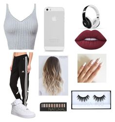 """""""Me"""" by lix-wxtson on Polyvore featuring adidas, NIKE, Beats by Dr. Dre, Lime Crime, Huda Beauty and Forever 21"""