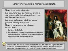 Características de la monarquía absoluta en el XVIII.