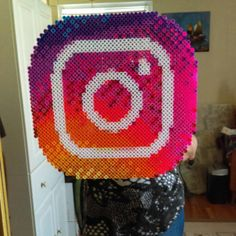 Instagram logo perler beads by  sharonjf