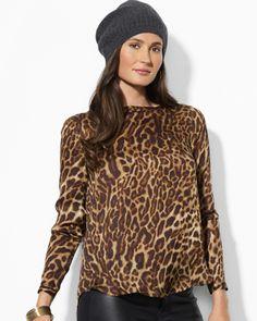 Lauren Ralph Lauren Animal Print Blouse | Bloomingdale's