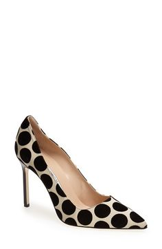 Manolo Blahnik 'BB' Pointy Toe Pump (Women) available at #Nordstrom Polkadot pumps... Love these heels!!!