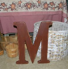 large wood letter m distressed 18 inch wood letters choose letter color