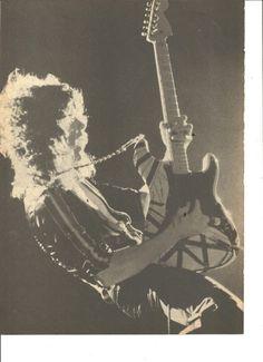 Van Halen, Eddie Van Halen, Full Page Vintage Pinup