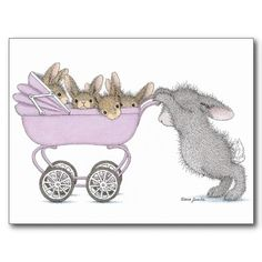 """The HappyHoppers® Postcard - This product was recently purchased off from our """"House-Mouse Designs® on Zazzle"""" store front. Click on the image for more information."""