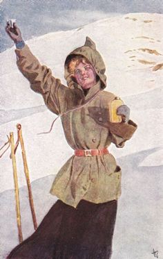 Bloch: Dame med drammeglasset i naturen ( Mittet &Co) 1907