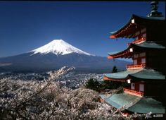 Mt. Fuji & die Chureito Pagoda in Japan
