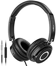 Vogek On Ear Headphones with Mic, Lightweight Portable Fold-Flat Stereo Bass Headphones with Tangle Free Cord and Microphone-Black: Electronics Best Bass Headphones, Best Earbuds, Headphones With Microphone, Headphone With Mic, Stereo Headphones, In Ear Headphones, Bluetooth Speakers, Wireless Headphones, Fashion Kids