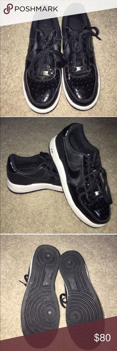 Nike Air Force 1s Black Nike Air Force 1s. Only worn once! Great condition! Size 7 youth, but fits like a true women's size 8.❌No Trades ❌No Holds ✅Posh Only ✅ Smoke Free Home ✅Offers Considered ✅Special Bundle Deals (just ask!) 30% off 3+ Bundles (Nov 1-30) Nike Shoes Sneakers