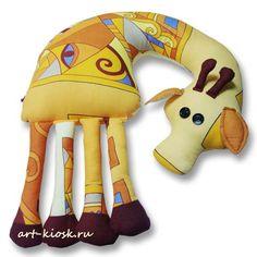 """Декоративная авторская подушка-игрушка """"Жираф"""""""