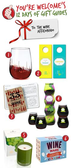 You're Welcome - [12 DAYS OF GIFT GUIDES] Gifts for the WineAfficionado
