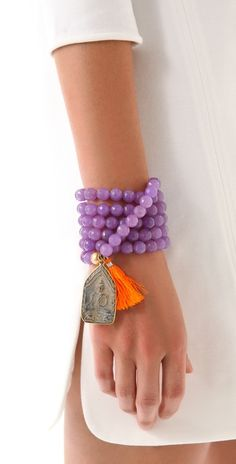 ONE by Lead bead tassel bracelet / necklace.
