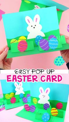 handmade videos How to Make a Pop Up Easter Card -Easy Easter Craft for Kids. This homemade Easter card is a fun and easy craft for kids of all ages to make for Easter. Simple pop up handmade greeting card and Easter crafts for kids. Easter Arts And Crafts, Bunny Crafts, Spring Crafts, Holiday Crafts, Thanksgiving Crafts, Arts And Crafts For Kids For Summer, Paper Craft For Kids, Arts And Crafts For Kids Easy, Hand Crafts For Kids