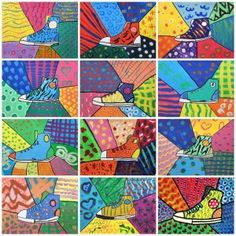 Another Britto inspired lesson? Art Lessons For Kids, Art Lessons Elementary, Texture Art Projects, Landscape Art Lessons, Middle School Art Projects, 5th Grade Art, Kindergarten Art, Teaching Art, Teaching Ideas