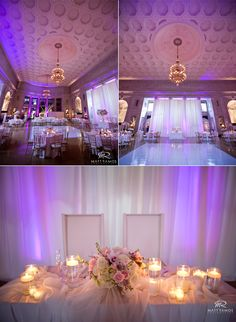 Sweet heart Table Al La Renaissance Floral Design   © Matt Ramos Photography  Lighting and draping