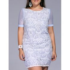 SHARE & Get it FREE   Sweet Plus Size Lace Patchwork Embroidered Women's DressFor Fashion Lovers only:80,000+ Items·FREE SHIPPING Join Dresslily: Get YOUR $50 NOW!