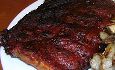 Tender, moist smoked Baby-Back Pork Ribs with a wonderful spicy dry rub