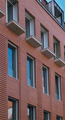 "Brick Stone Building in Münster, Bricks ""ABC-LANGFORMAT"" by ABC-Klinkergruppe"