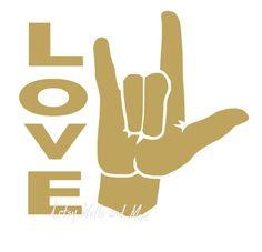 Download I Love You Sign Language Wall Art 8x10 Printable Image ...