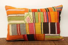Decorative Lumbar Patchwork kilim pillow cover by kilimwarehouse, $37.00