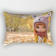 Blythe doll Nature #2 Rectangular Pillow
