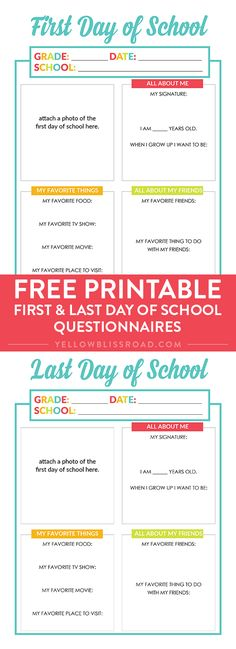 School Year Planner Free printable All About Me Interviews for the first day of school and last day of schoolFree printable All About Me Interviews for the first day of school and last day of school End Of School Year, Beginning Of School, School Fun, School Days, School Life, Letter To Teacher, Parent Letters, School Interview, Kindergarten First Day