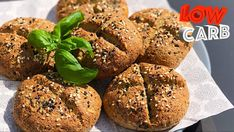 Homemade Buns, Muffin, Paleo, Low Carb, Yummy Food, Bread, Meals, Baking, Breakfast