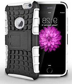 """myLife Brilliant White {Hybrid Kickstand Design} 2 Layer Hybrid Case for the NEW iPhone 6 (6G) 6th Generation Phone by Apple, 4.7"""" Screen Version (Single External Fitted Hard Protector Shell + Full Body Internal Silicone EASY-Grip Bumper Gel Protection) myLife Brand Products http://www.amazon.com/dp/B00NI5M3V8/ref=cm_sw_r_pi_dp_UWepub197SEG7"""