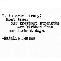 """Beautifully Moving Quotes From An Insta-Poet Who Knows All About Life & Love """"It is cruel irony; Most times our greatest strengths are birthed from our darkest days.""""""""It is cruel irony; Most times our greatest strengths are birthed from our darkest days. Irony Quotes, Book Quotes, Wisdom Quotes, Quotes About Moving On, Moving Quotes, Quotes About Growing Up, Life Quotes To Live By, Change Quotes, Dream Quotes"""