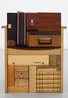 Vintage suitcase as art - Michael Johansson - Echoing Shades, 2011