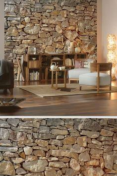 ziegelwand und backsteinwand imitat | interior | pinterest | haus, Best garten ideen