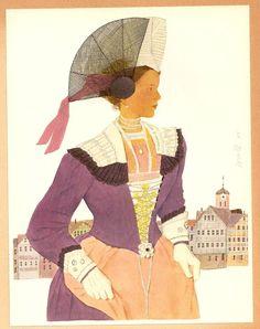 Kurt Wirth (Swiss, 1917-1996): Schweizer Trachten (Swiss traditional costumes). Appenzell