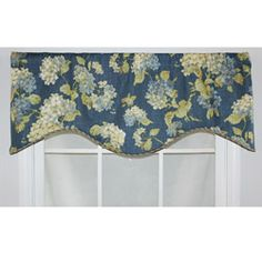 @Overstock - The Rolling Meadows Cornice window valance from RLF Home features a beautiful periwinkle blue hydrangeas printed on a rich chambray blue background. It is lined and finished with a coordinating gold, and blue cord.http://www.overstock.com/Home-Garden/RLF-Home-Chambray-Cotton-17-inch-Rolling-Meadows-Cornice-Window-Valance/6722405/product.html?CID=214117 $54.99