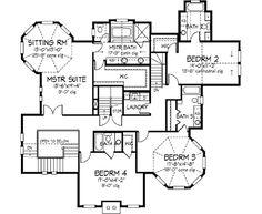 Victorian Style House Plan - 5 Beds 5.5 Baths 4898 Sq/Ft Plan #320-414 Floor Plan - Upper Floor Plan - Houseplans.com