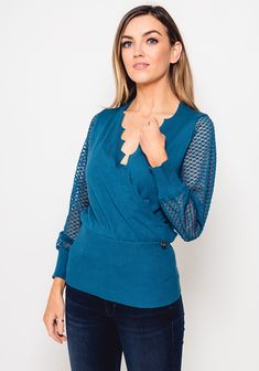 Jumper, Teal, Pullover, Knitting, Sleeves, Sweaters, Fashion, Moda, Tricot