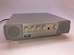 VINTAGE TANDY MMS-10 STEREO AMPLIFIED SPEAKER SYSTEM FOR PC PERSONAL COMPUTERS