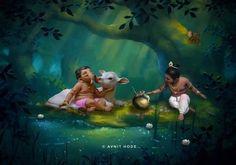 Shri Ganesh Images, Ganesha Pictures, Krishna Images, Baby Ganesha, Baby Krishna, Krishna Art, Happy Ganesh Chaturthi Images, Lord Murugan Wallpapers, Ganesh Photo