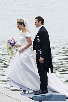 Princess Victoria of Sweden and Daniel Wrestling on their wedding day