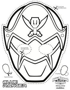 Power Rangers Colouring Mask