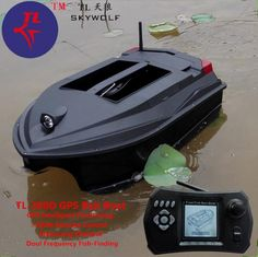 GPS Positioning Intellective Remote Control RC Bait Boat Dual Bait Bell Wireless Sonar Fish Detector Fix Up Fishing Net Bait Tank, Fishing Lights, Fish Finder, Plastic Injection Molding, Cool Tech, Alarm System, Fishnet, Remote, Lighting Accessories